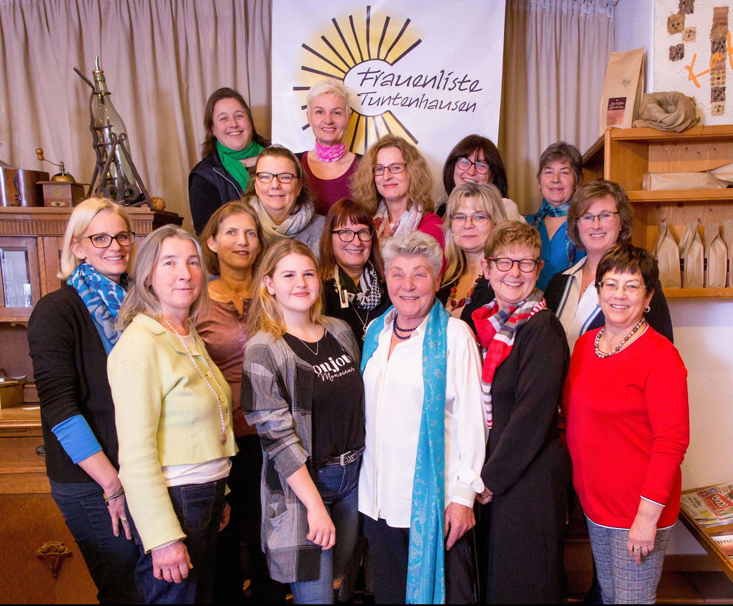 Die Kandidatinnen der Frauenliste Tuntenhausen für die Gemeinderatswahl am 15.3.20