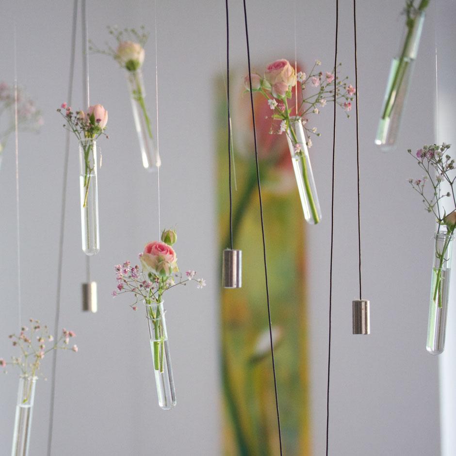 Hängende Vasen Glasvasen Blumendekoration