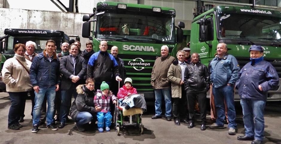 Die SVP Werdenberg auf Besuch bei der Eggenberger Recycling AG.