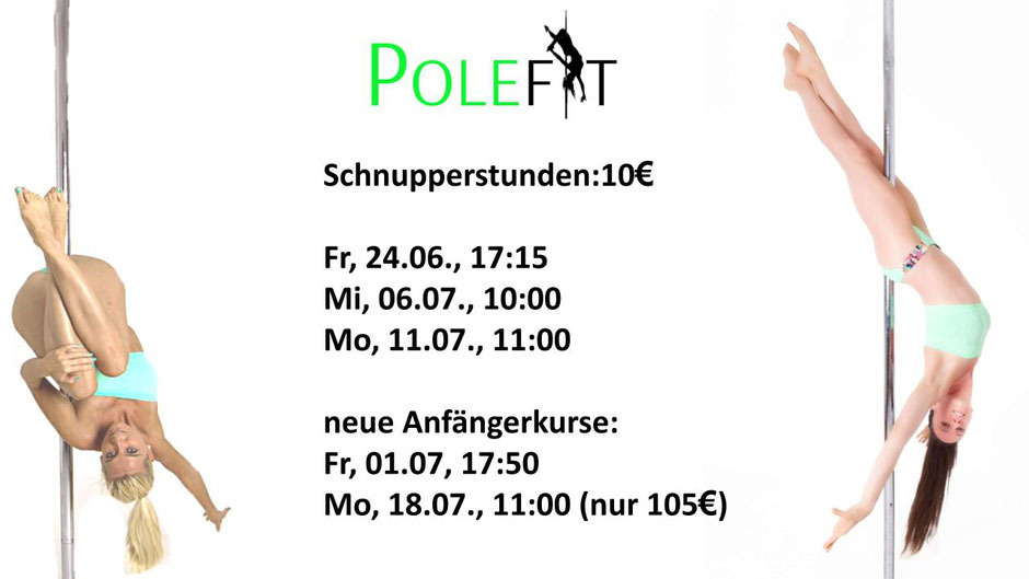 Pole Dance Schnupperstunde POLEFIT Graz Jasmine Tautschnig und Katharina Kerschbaumer