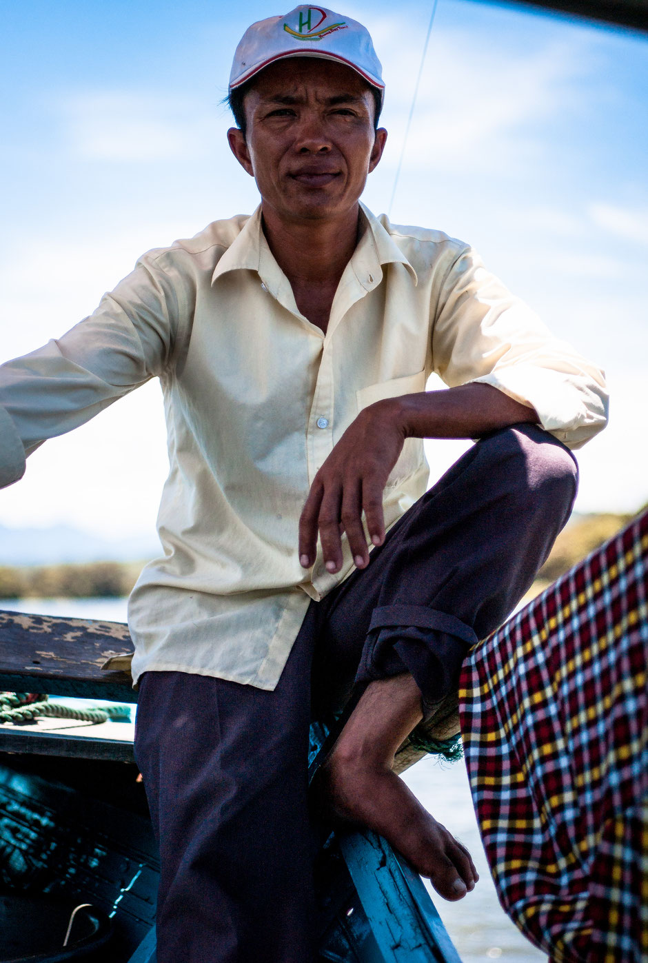 Portrait of the skipper, Mekong River, Vietnam, 2016, 2/2