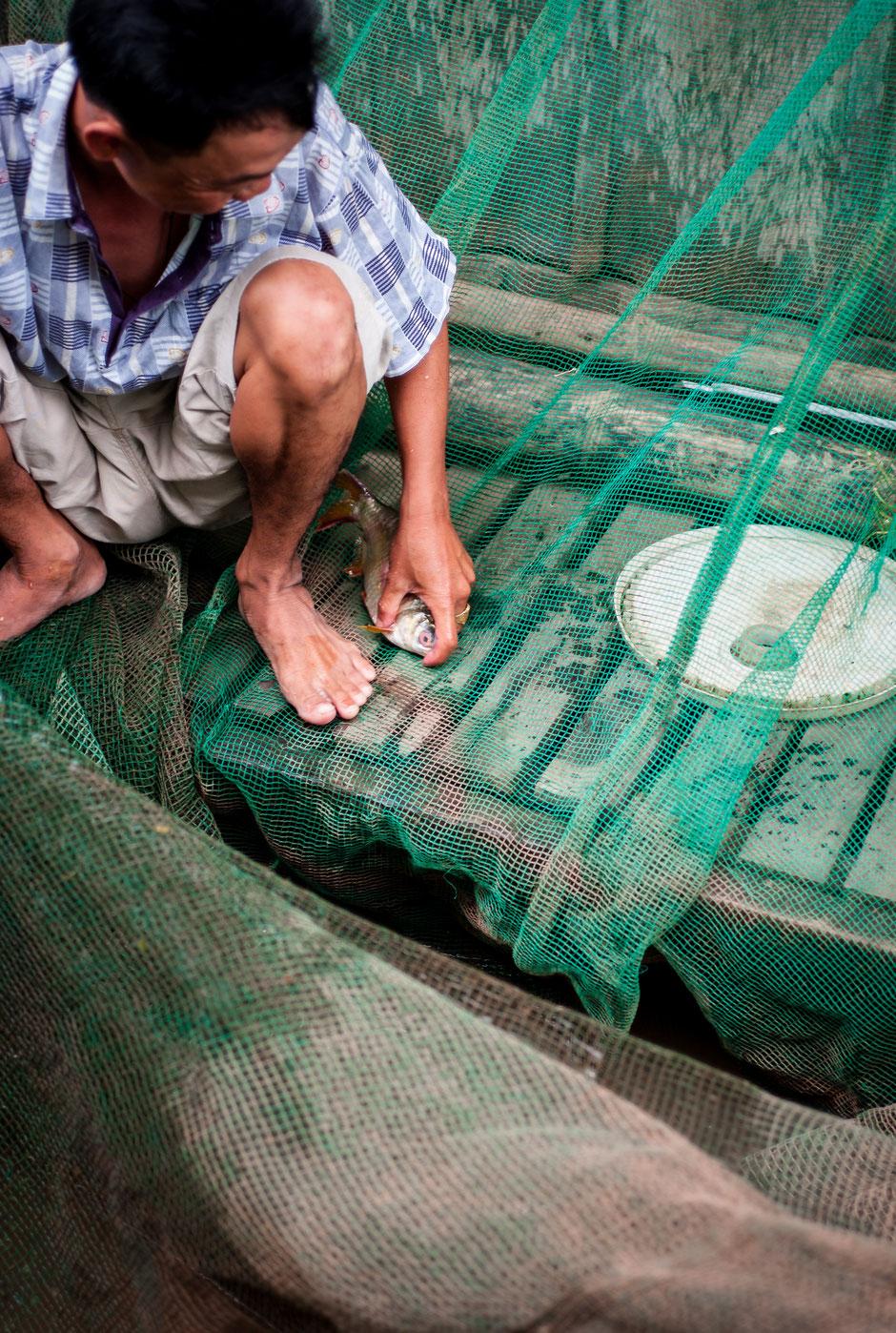Fishermen, Mekong River, Vietnam, 2016