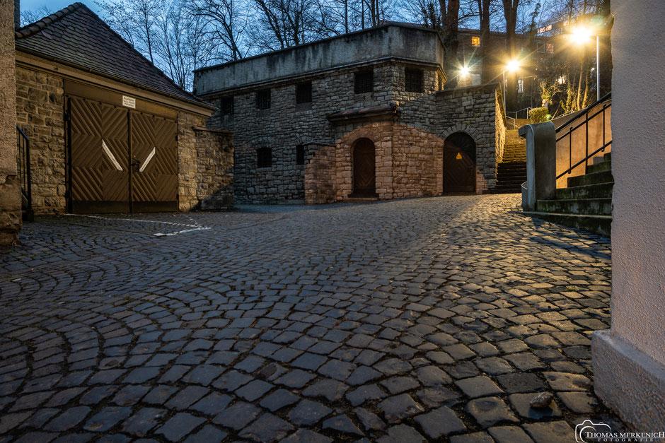 ehemalige Gefängniszellen im Hinterhof des Rathaus Bergisch Gladbach