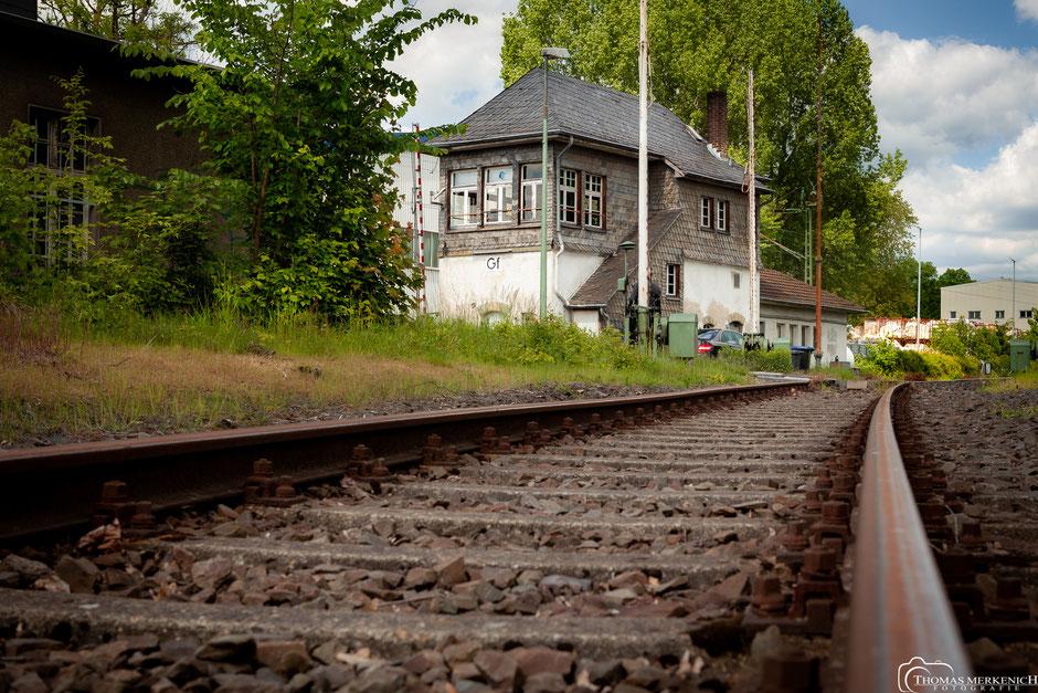 Schienenübergang Tannenbergstraße in Bergisch Gladbach