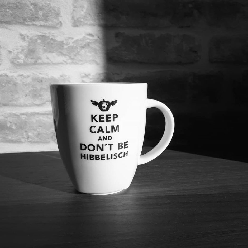 Bembel Rocker Tasse - Keep calm and don't be Hibbelisch