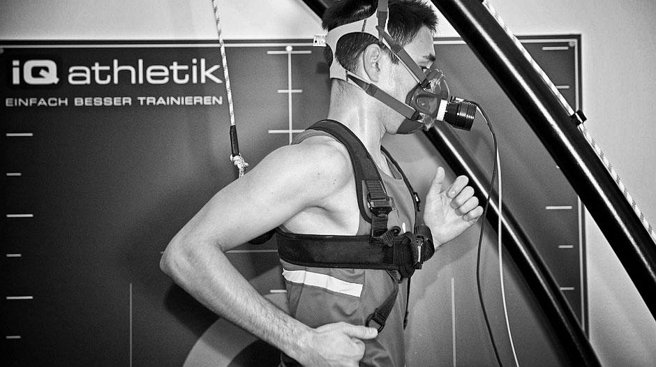 Leistungsdiagnostik mit Spiroergometrie bei iQ athletik in Frankfurt