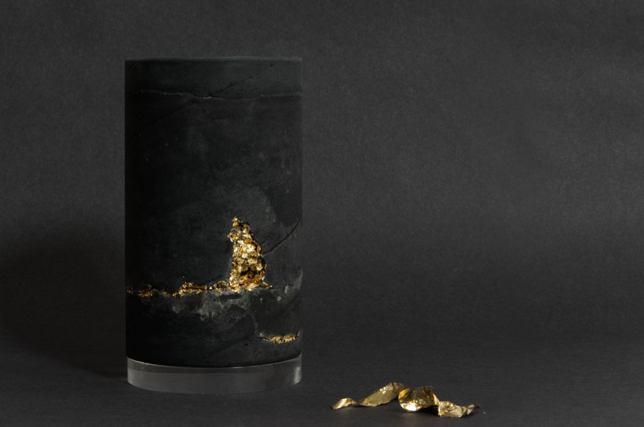 Original Concrete Sculpture 'Gold Vein' by PASiNGA