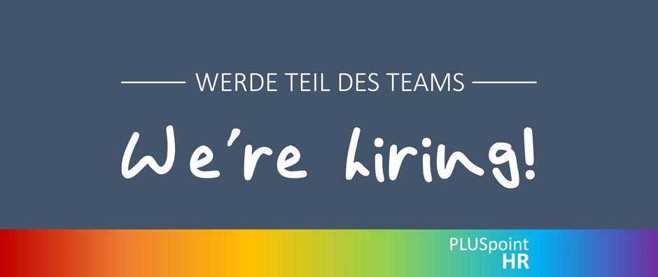Werde Teil des Teams - We are hiring!