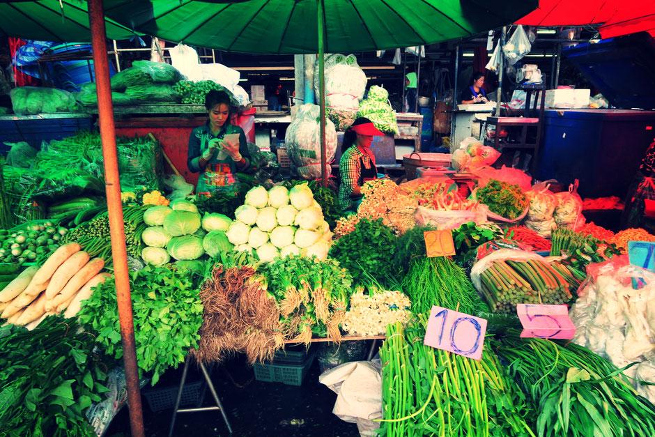 Klong Toey Markt Gemüse
