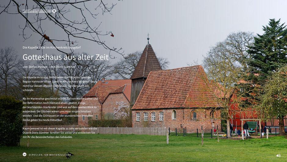 Pageflow über die Otzer Kapelle von Stefan Heinze