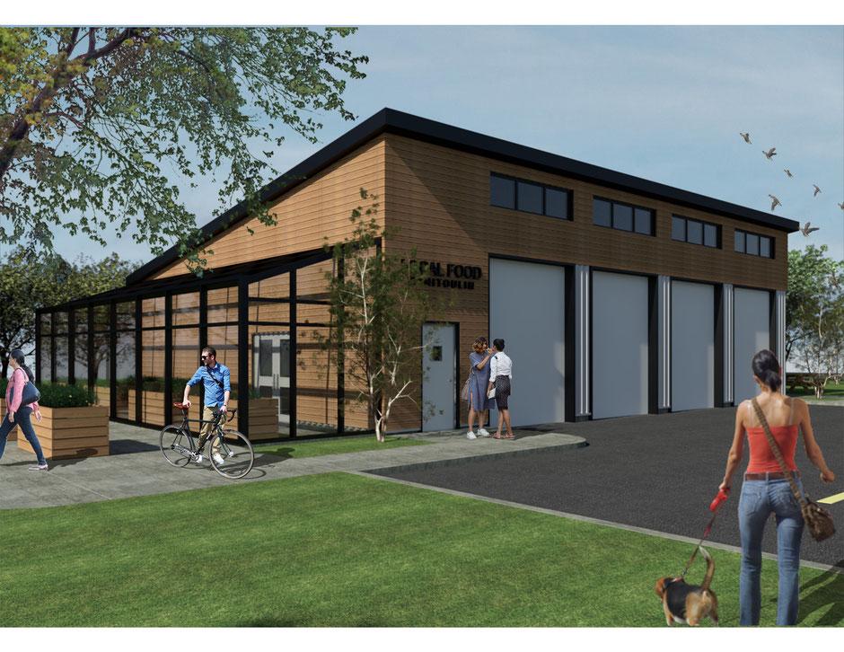 """Conceptual exterior design of """"home-base"""" facility"""