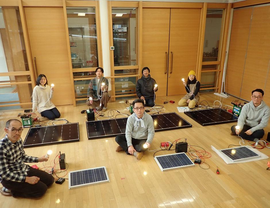藤野電力ミニ太陽光システムてづくりワークショップ@さとやま農学校