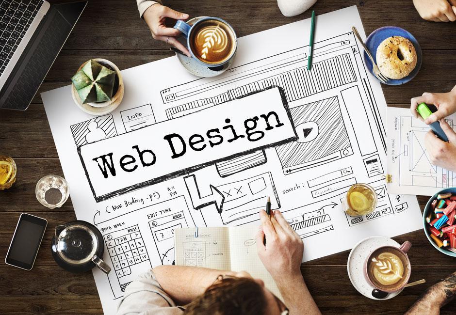 Webdesign Gestaltung anhand einer Skizze.