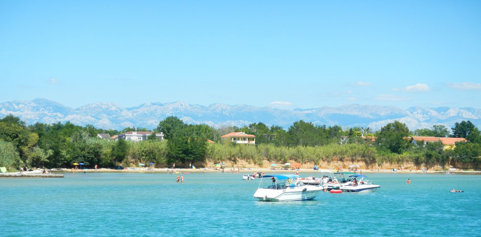 View from the water on Velebit mountain