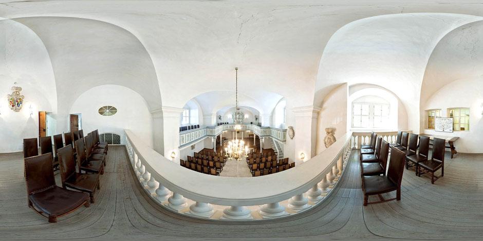 Kirche des Stadtmuseums Köthen, Innenaufnahme