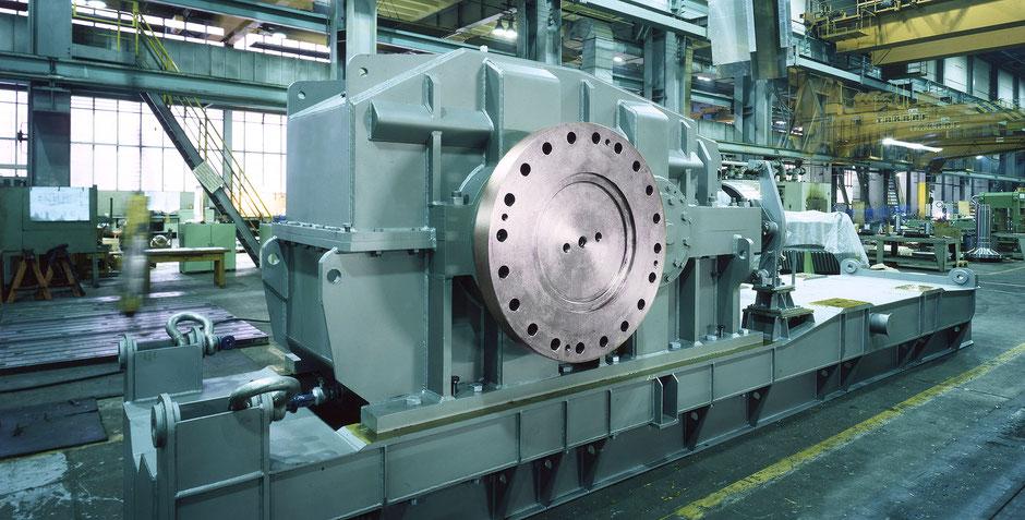 Getriebetechnik Dessau, Getriebe in der Produktionshalle