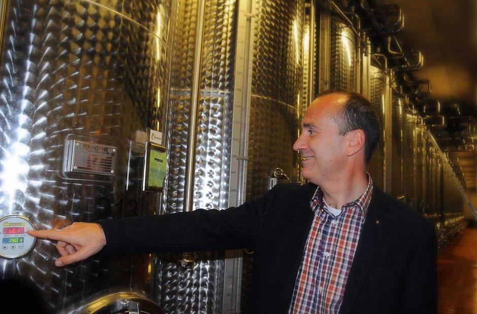 Dieter Greiner, Geschäftsführer des Hessischen Staatsweinguts, hier im Weinkeller im Steinberg bei Eltville kooperiert jetzt mit der Bergsträßer Winzer eG.                                                            fotos: copyright regina trabold