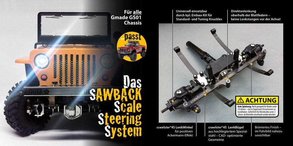 Alle Produktvorteile des crawlster®4S LenkSystems im Überblick
