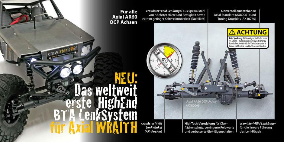 Alle Produktvorteile des crawlster®4Wd LenkSystems im Überblick