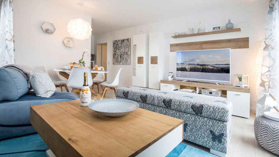 Wohnzimmer - Ferienwohnung in Winterberg
