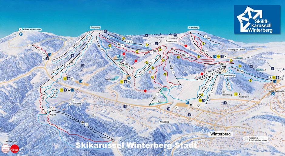 Skikarussel Winterberg Stadt