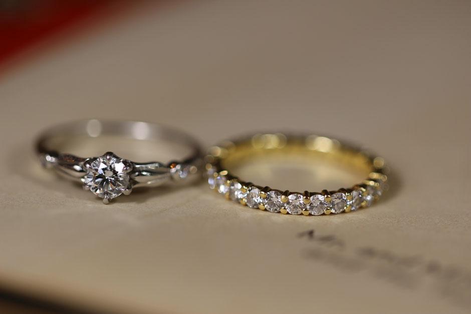 ご自身でお手入れした指輪