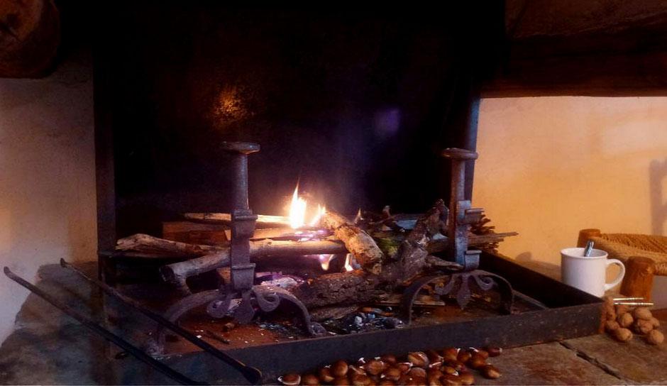 la cheminée du gite de liou