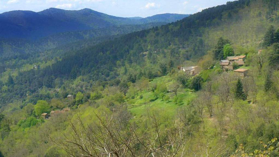 Le hameau de Conches à Saint-Frézal de Ventalon. Hautes Cévennes