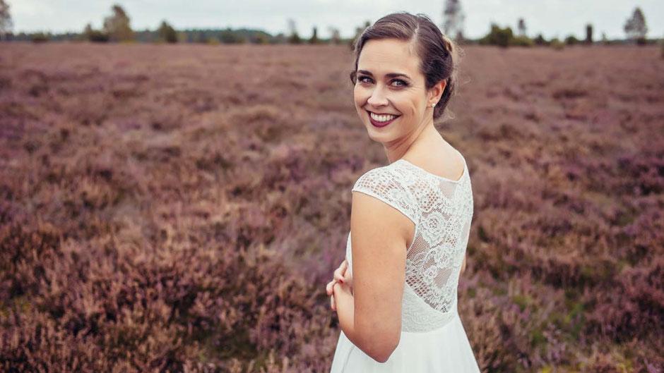 Vintage Hochzeitskleid mit zarter Spitze