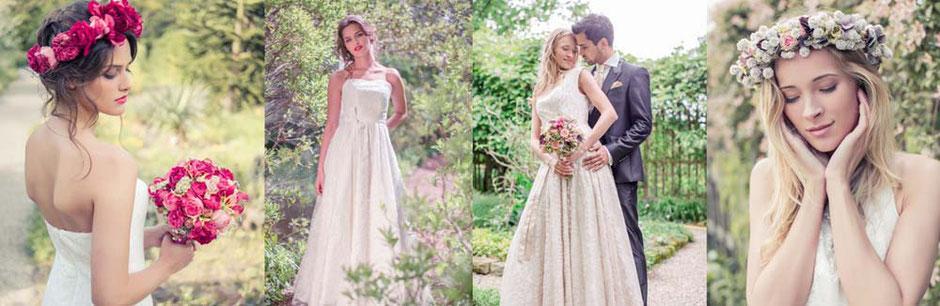 schlichte Hochzeitskleider nach Maß