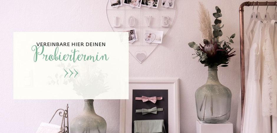 moderne Brautröcke  und zweiteilige Brautkleider - Probiertermin vereinbaren