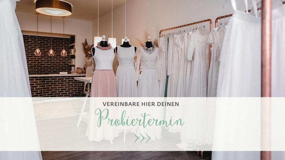 schlichte Brautkleider Hannover - Probiertermin vereinbaren