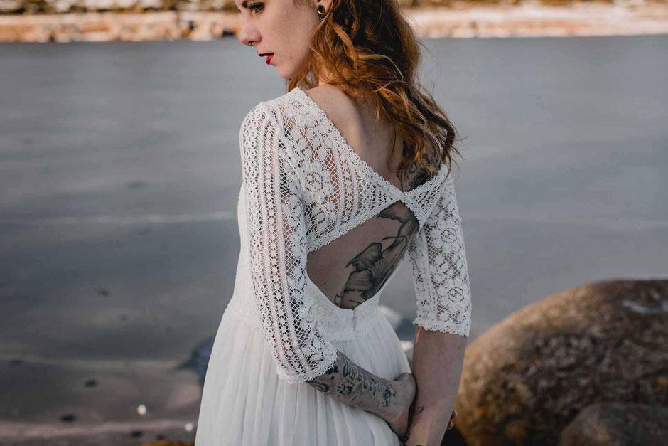 Brautkleid LINN- natürlich, romantisch und verspielt
