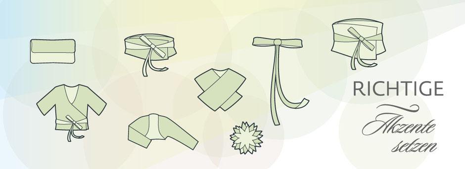 Brautaccessoires, Brautgürtel, Brautbolero