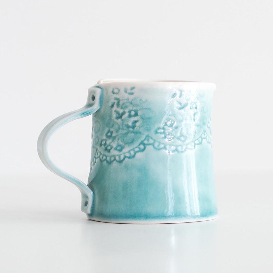 hand built milk jug pitcher