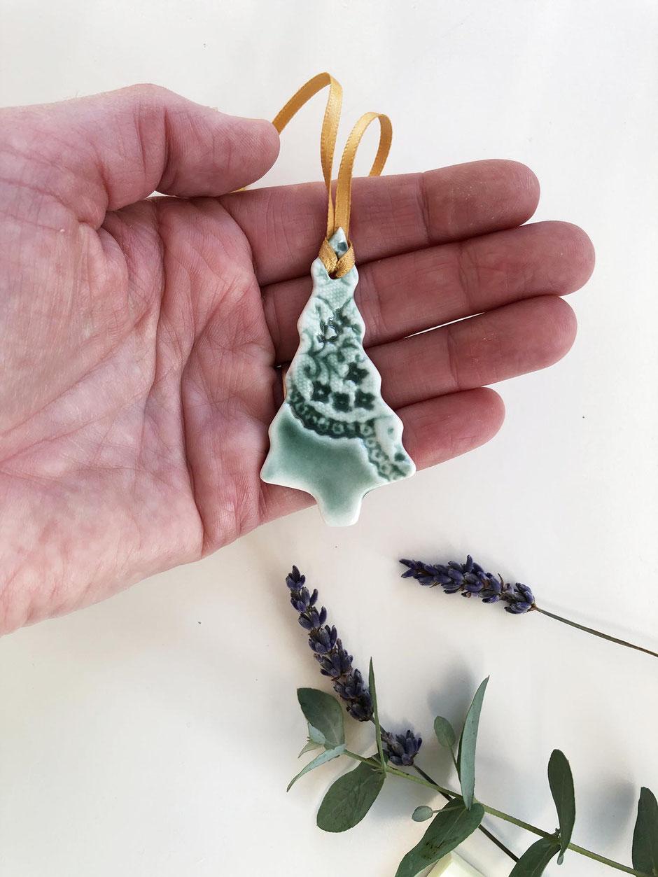 porcelain Christmas tree decoration