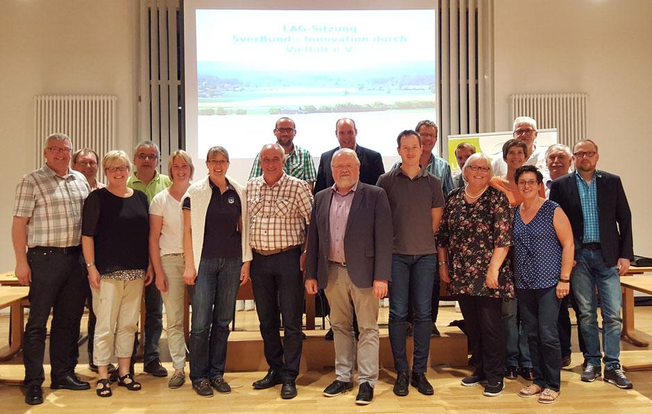 Die Mitglieder des erweiterten Vorstandes der LAG 5verBund freuen sich über die ersten bewilligten Projekte
