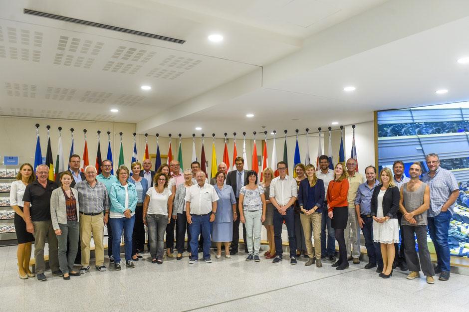 Gruppenbild mit dem Europaabgeordneten Dr. Peter Liese