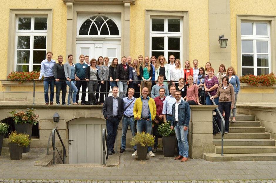 Gruppenbild der nordrhein-westfälischen LEADER-Managements bei ihrer Tagung in Schwerte zum Auftakt der Förderung