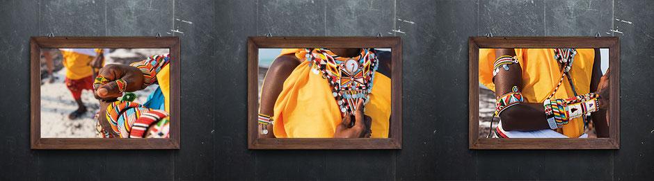 Masai Kollektion auf Fineart Fotopapier gedruckt.