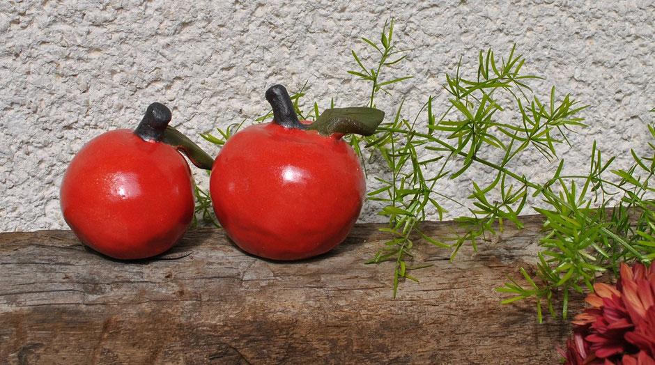 Gartenkeramik Äpfel