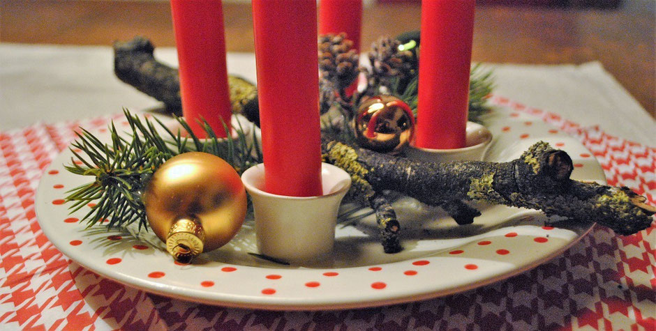 Adventsteller statt Adventskranz