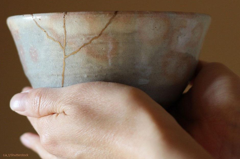 Nachhaltige japanische Keramikreparatur