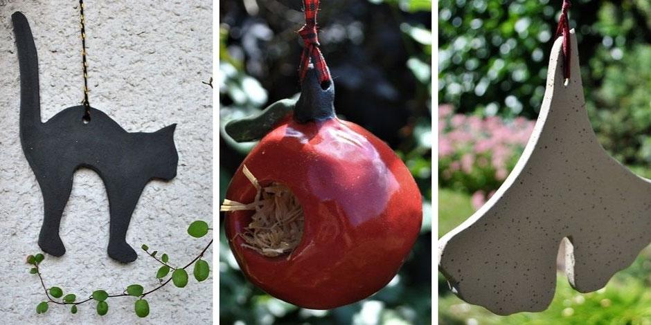 Herbstliche Gartendeko Keramik frostfest Halloween Herbst