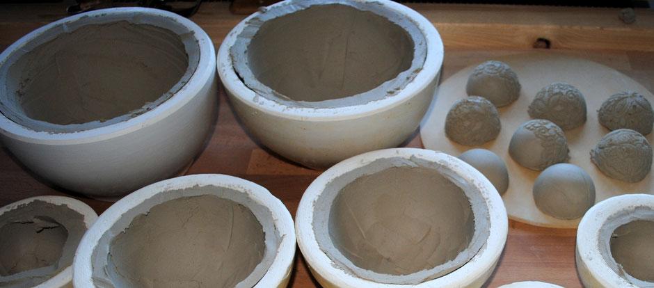 Gartenkeramik in Handarbeit hergestellt