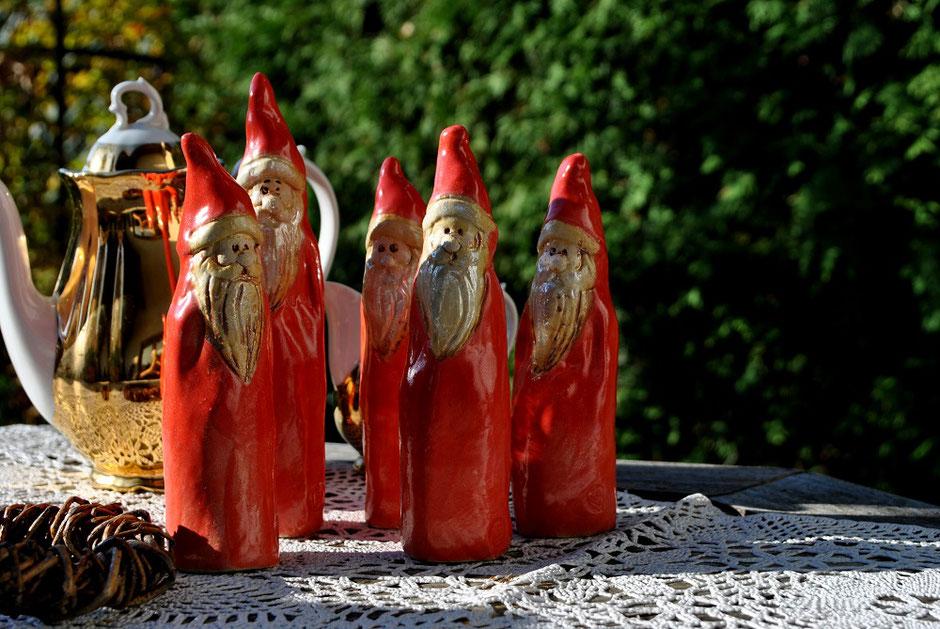 Nikolaus Gartenstecker Keramik frostfest