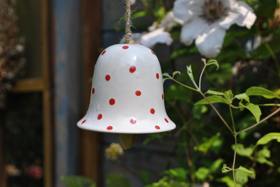 Keramikglöckchen Gartendeko als Geschenkidee