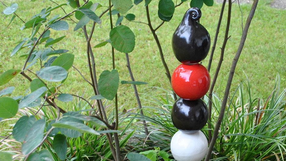 Gartenstelen aus Keramik
