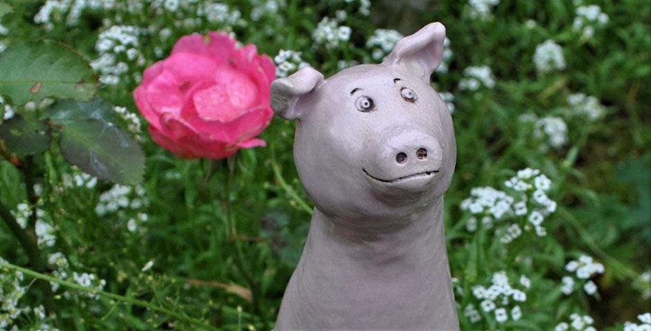 Zaunhocker Schwein - Glück verschenken