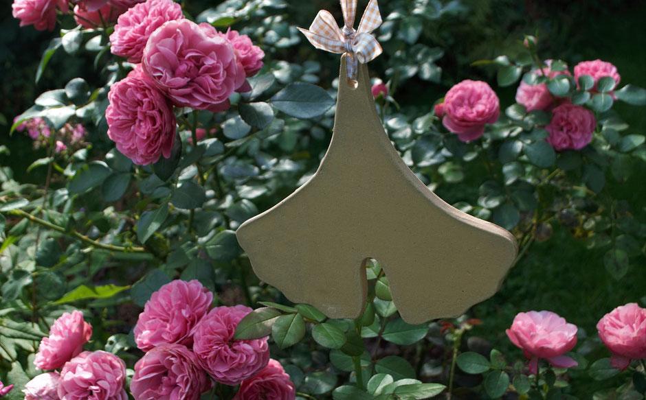 Ginkoblatt neue Herbstkeramik für den Garten